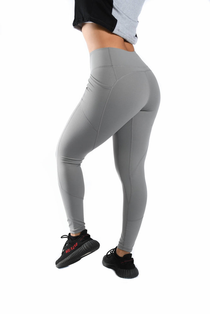 Load image into Gallery viewer, Resilient Heart Booty Leggings- Platinum