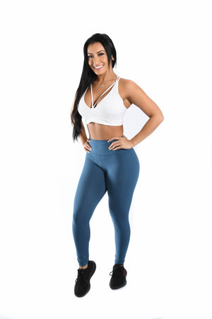 Load image into Gallery viewer, Effortless Classic Leggings- Arctic Blue