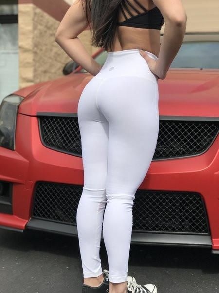 Premium White Mesh Leggings