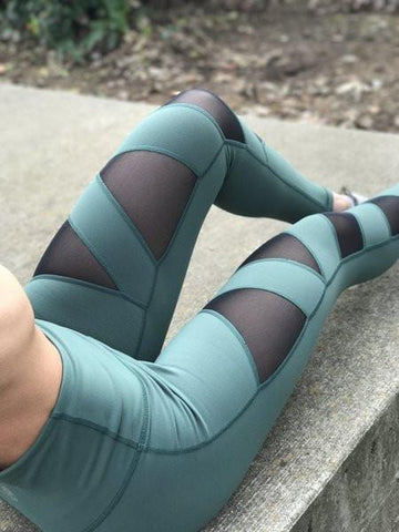 Premium Lagoon Blue Heart Booty Leggings