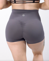 Effortless Scrunch Shorts- Alloy Steel