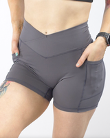 Effortless Vortex Pocket Shorts- Alloy Steel