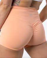 Resilient Scrunch Shorts- Cantaloupe