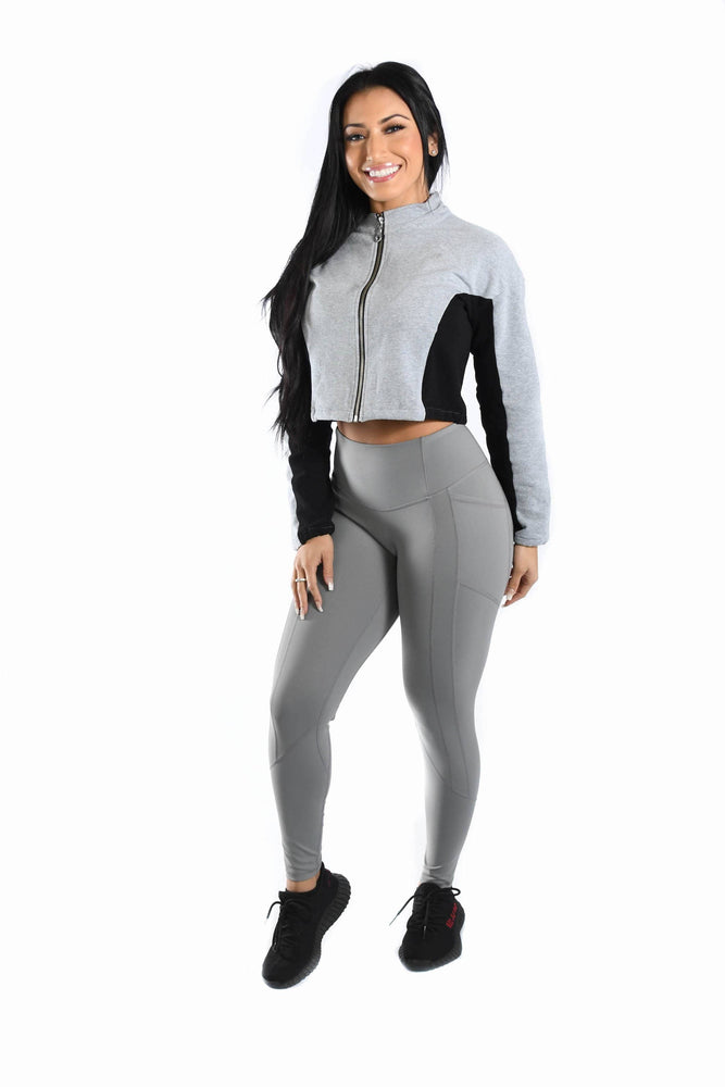 Resilient Heart Booty Leggings- Platinum
