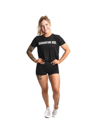 Quarantine Bod Crop Top- Black