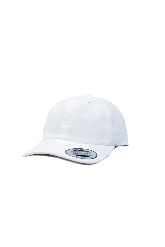 Dad Hat- White on White
