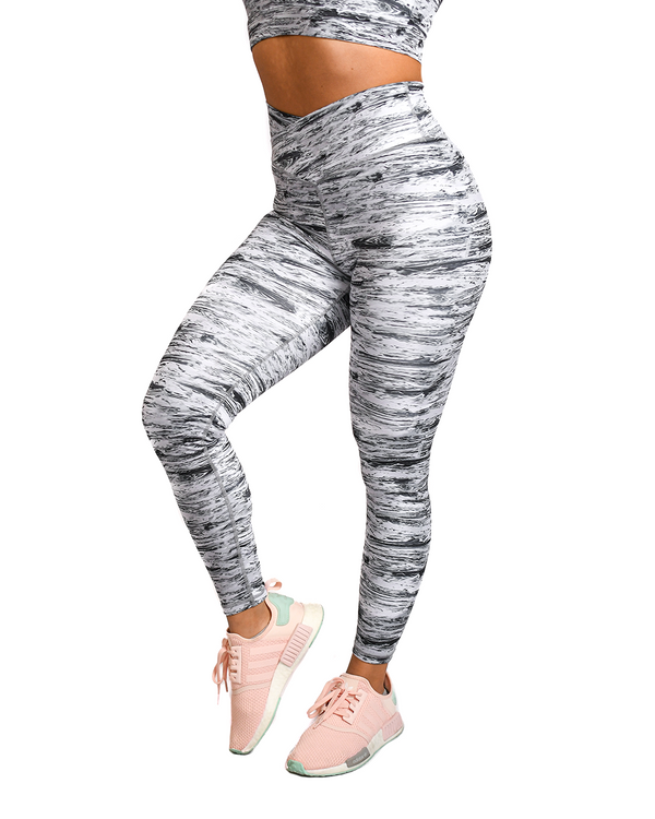 Effortless Vortex Classic Leggings- Abstract Stripe