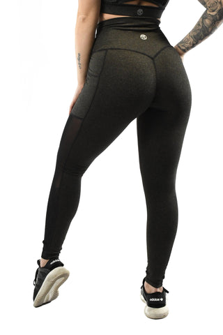 Intensity Heart Booty Leggings- Army