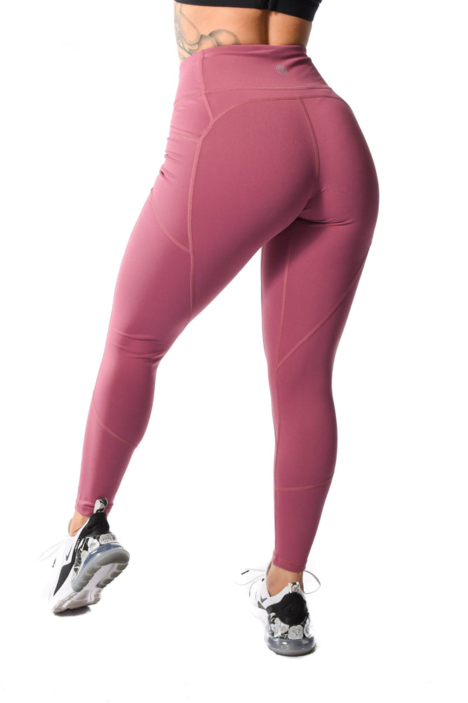 Resilient Heart Booty Leggings- Rose Gold