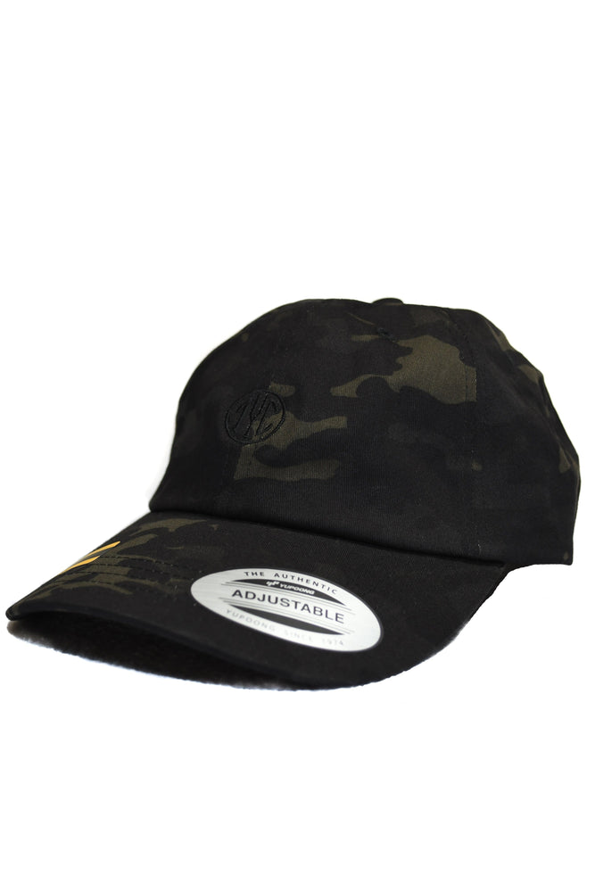 Black camo dad hat