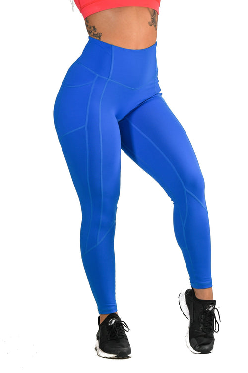 Resilient Heart Booty Leggings- Electric Blue