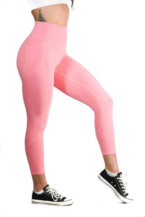 Resilient Heart Booty Leggings- Cotton Candy