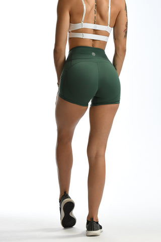 Effortless Scrunch Shorts- Copper