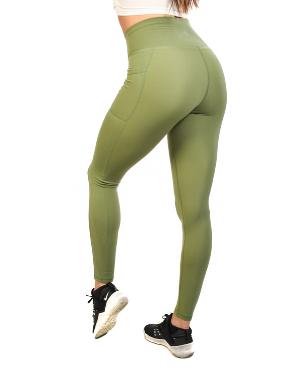 Effortless Vortex Pocket Leggings- Green Tea