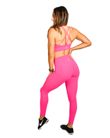 Effortless Scrunch Leggings- Hot Pink
