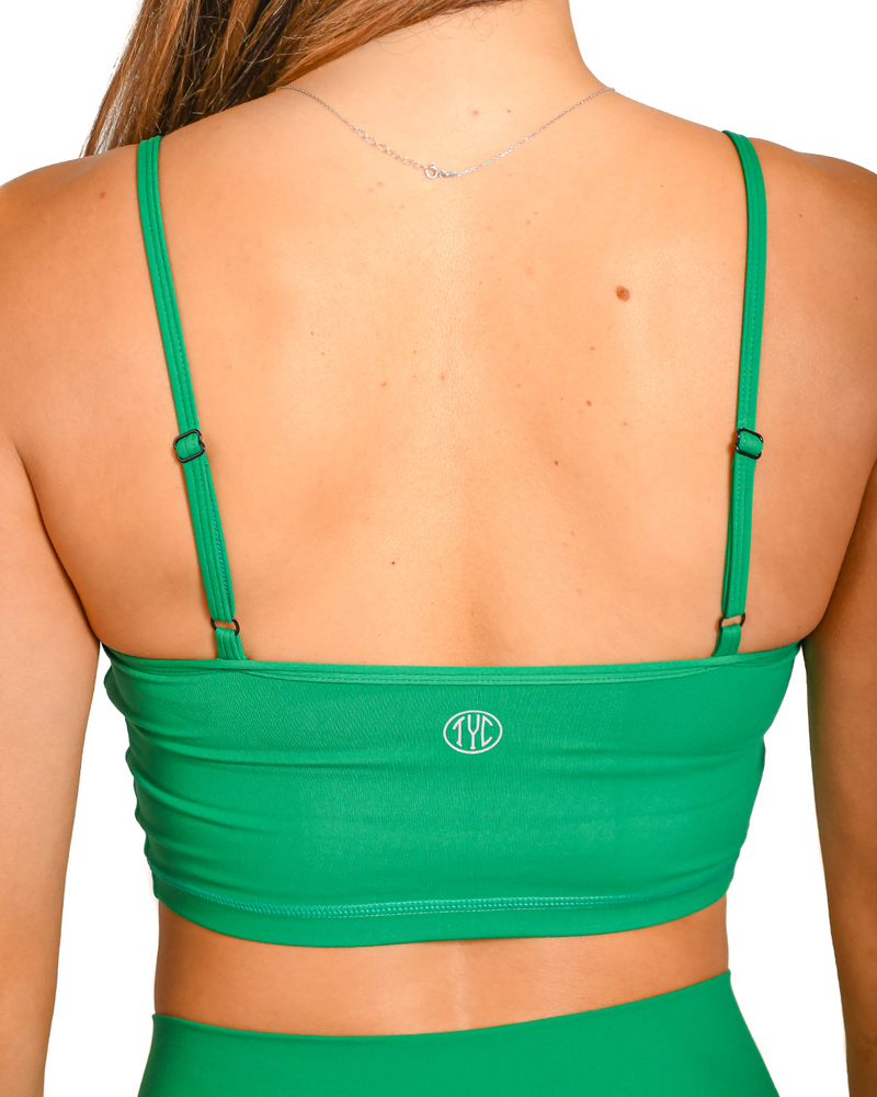 Dreamy Crop Tank- Jade