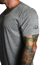 Scoop Neck T-shirt- Grey