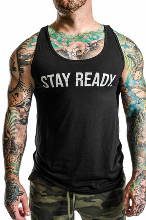Load image into Gallery viewer, Men's 'Stay Ready' Tank- Black
