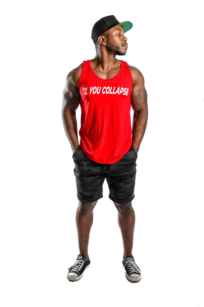 Load image into Gallery viewer, Men's 'Til You Collapse' Tank- Red