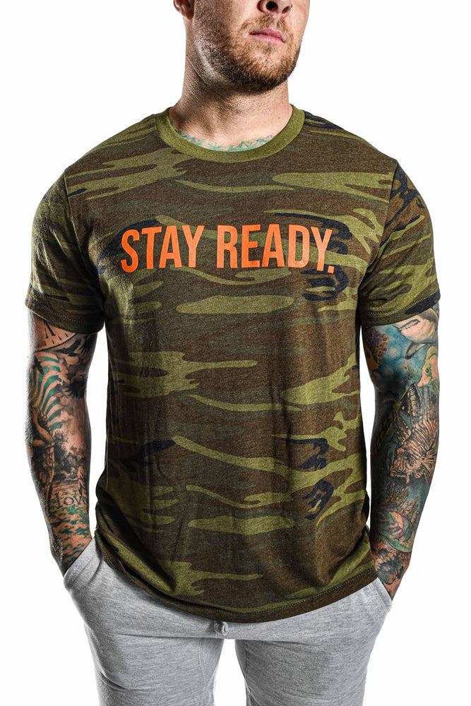 Stay Ready Camo T-shirt- Orange