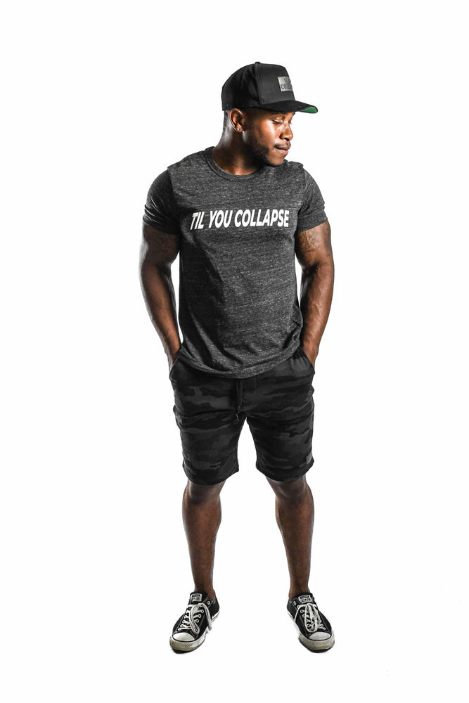 'Til You Collapse' T-shirt- Charcoal