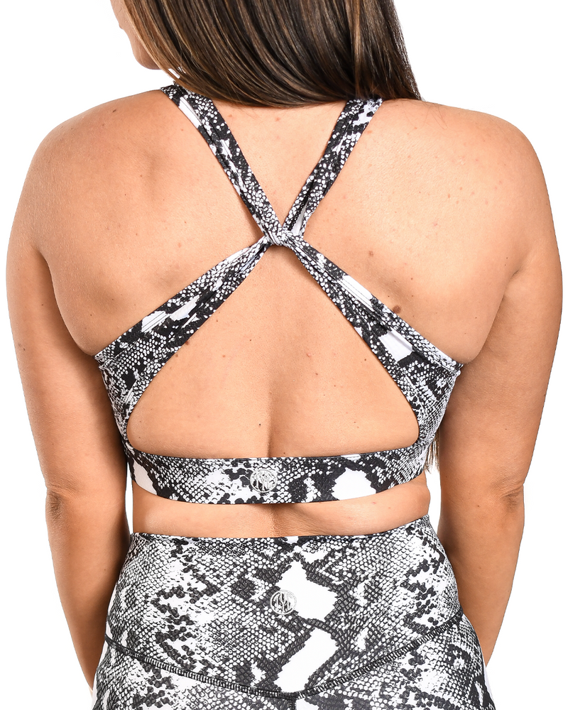Monochrome Cobra Sports Bra