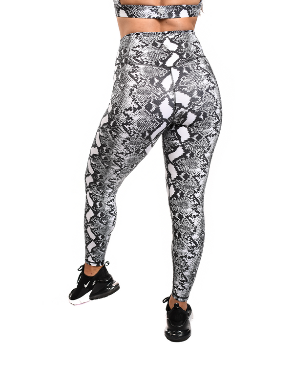 Effortless Vortex Classic Leggings- Monochrome Cobra