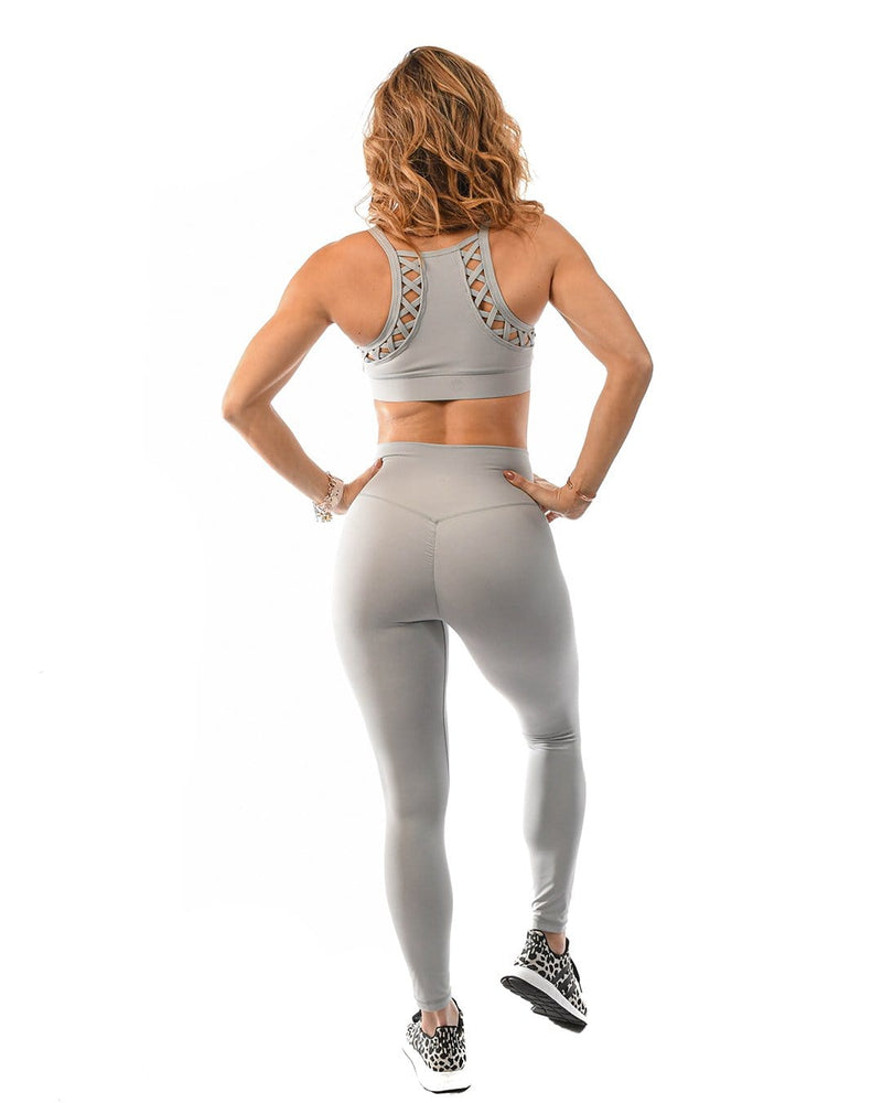 Effortless Scrunch Leggings- Slate Grey
