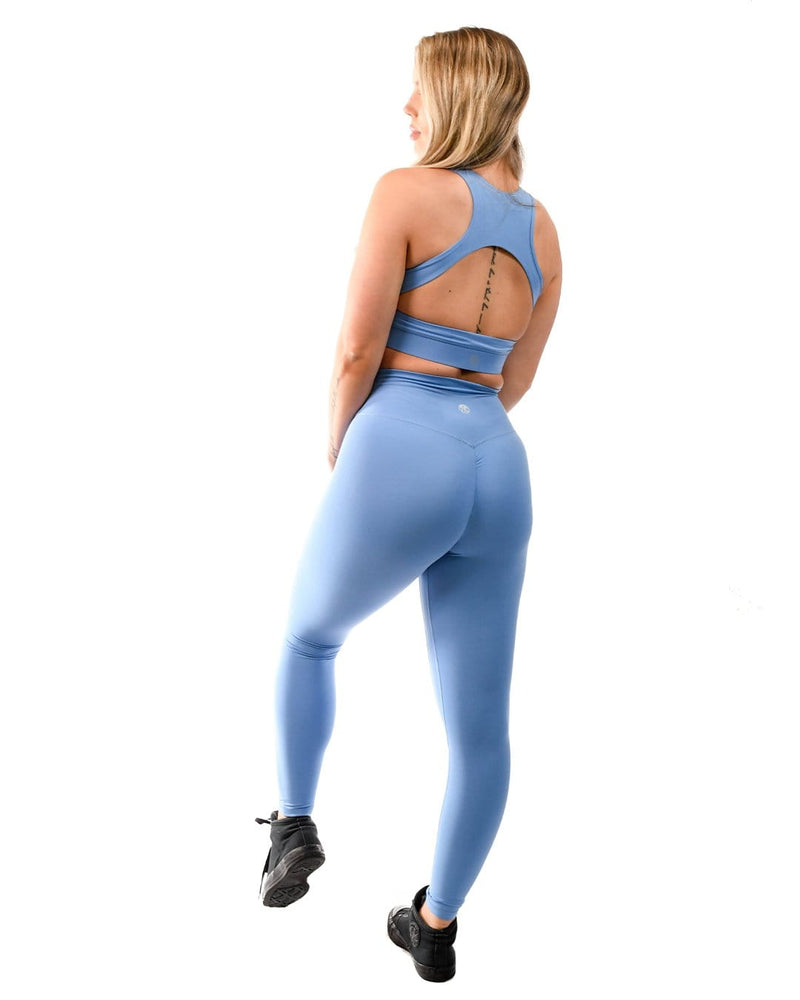 Effortless Scrunch Leggings- Sapphire