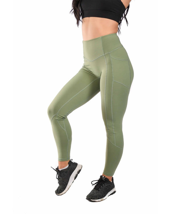 Resilient Heart Booty Leggings- Sage