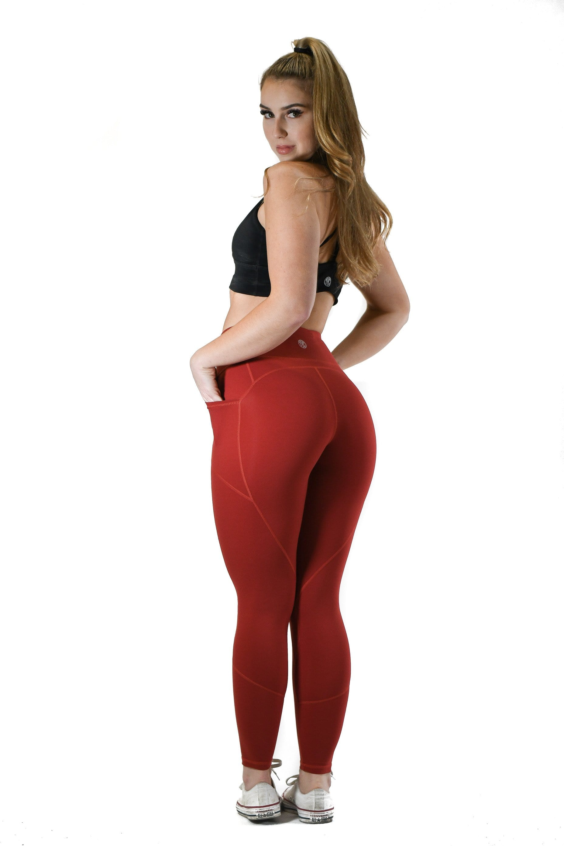 Effortless Heart Booty Leggings- Copper