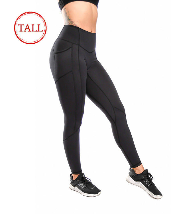 "31"" Effortless Heart Booty Leggings- Black"