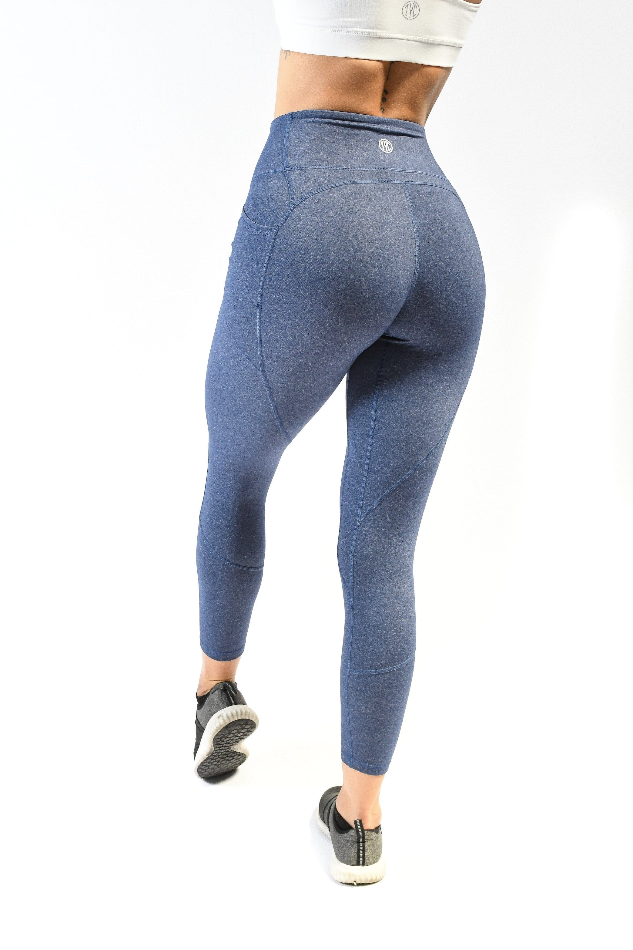 Resilient Heart Booty Leggings- Speckled Blue