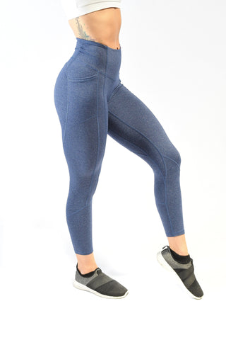 Effortless Heart Booty Capris- Navy