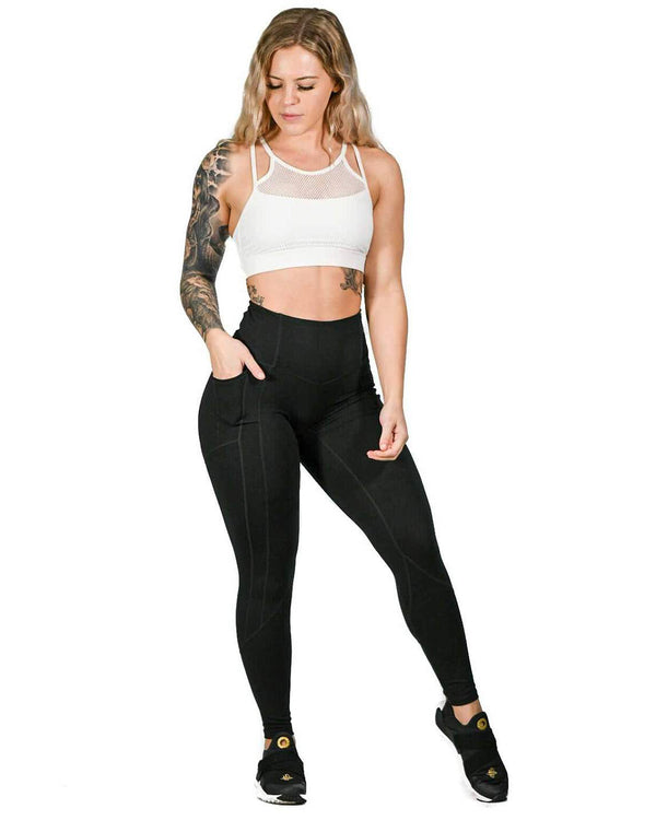 Resilient Heart Booty Leggings- Black