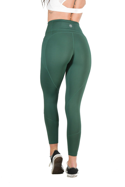 Intensity Heart Booty Leggings- Forest Green