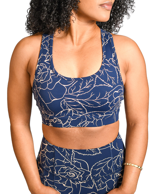 Royal Roses Sports Bra