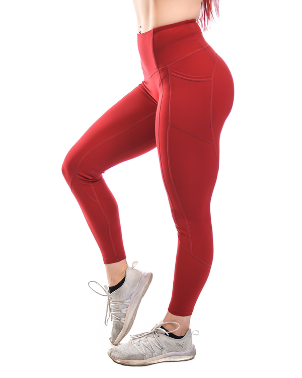 Effortless Heart Booty Leggings- Sangria
