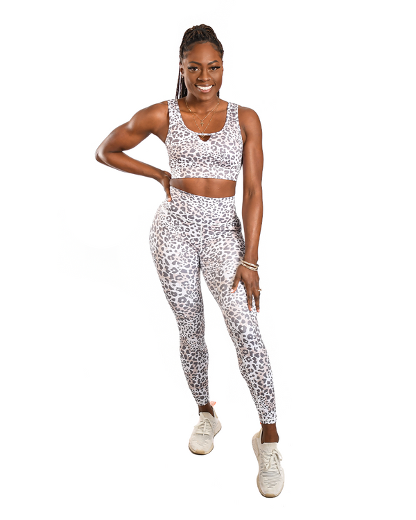 Effortless Classic Leggings- Savannah Leopard