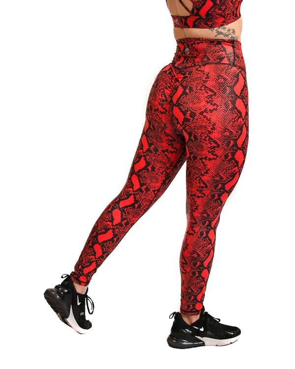 Effortless Scrunch Leggings- Scarlet Kingsnake