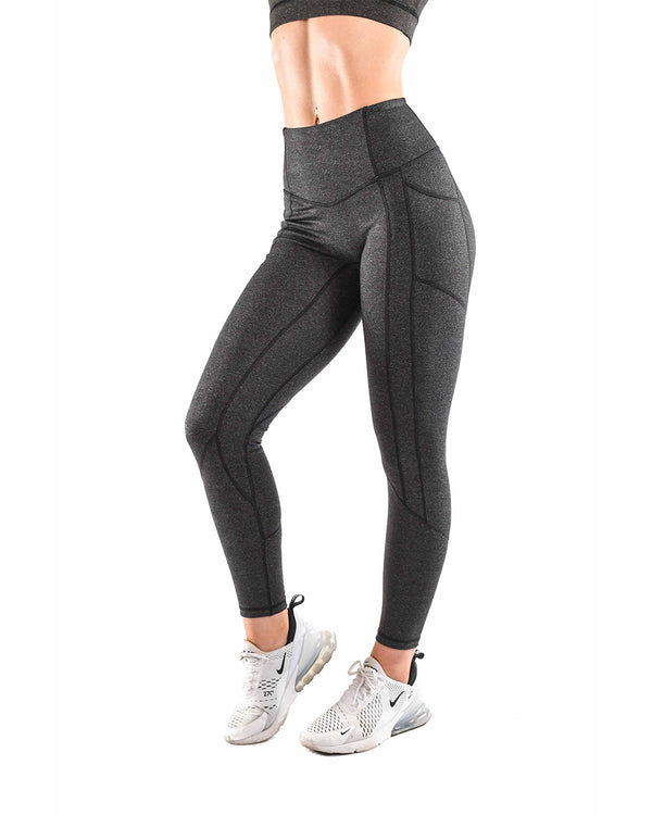 Resilient Heart Booty Leggings- Speckled Black