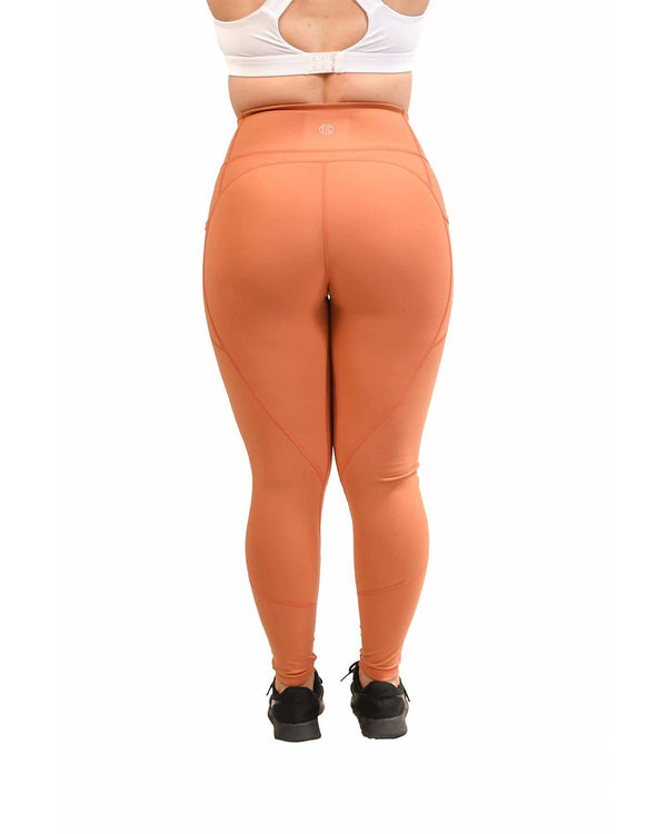 Effortless Heart Booty Leggings- Terracotta