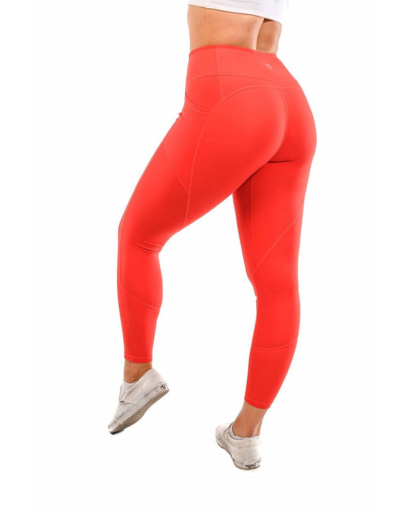 Effortless Heart Booty Leggings- Infrared