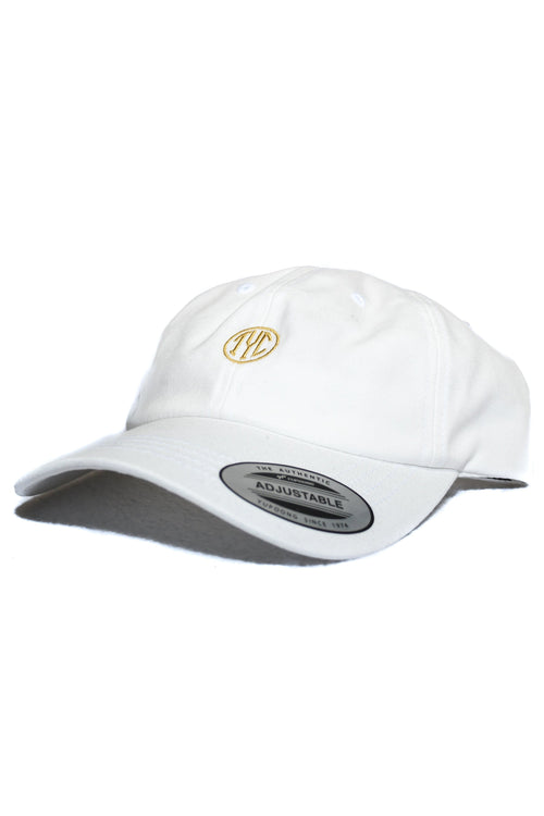 Dad Hat- White/Gold