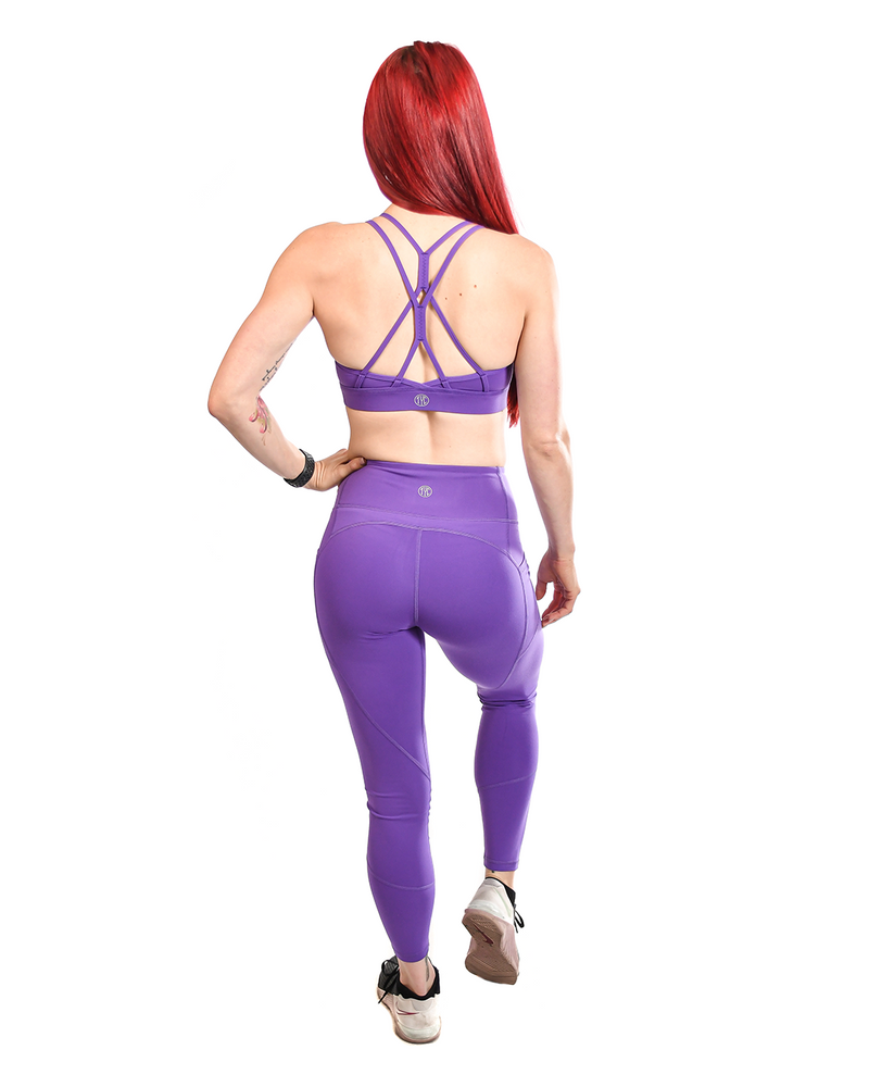 Effortless Heart Booty Leggings- Wisteria