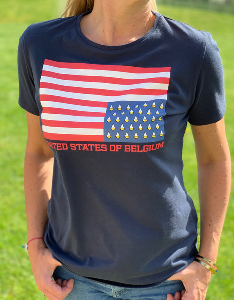 T-shirt Summer Flag navy