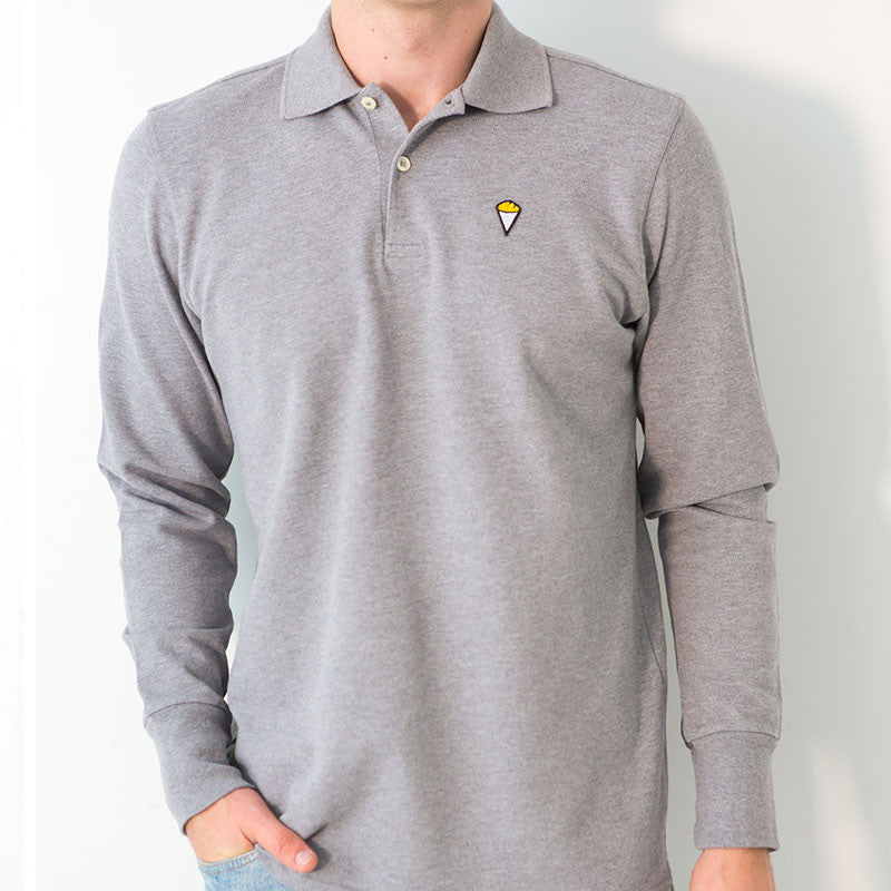 Polo long sleeves GREY
