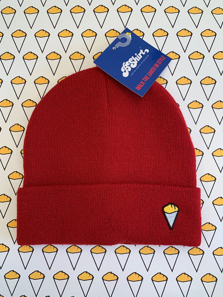 Bshirt ruby red beanie