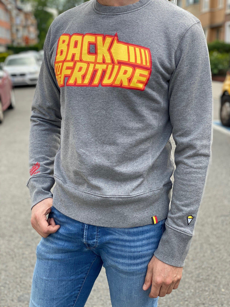 Sweatshirt crew neck BTTF grey