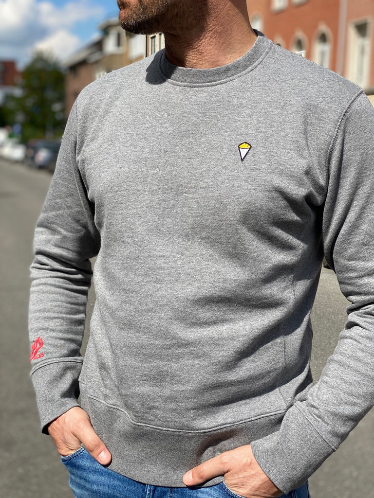 Sweatshirt crew neck FRITES grey